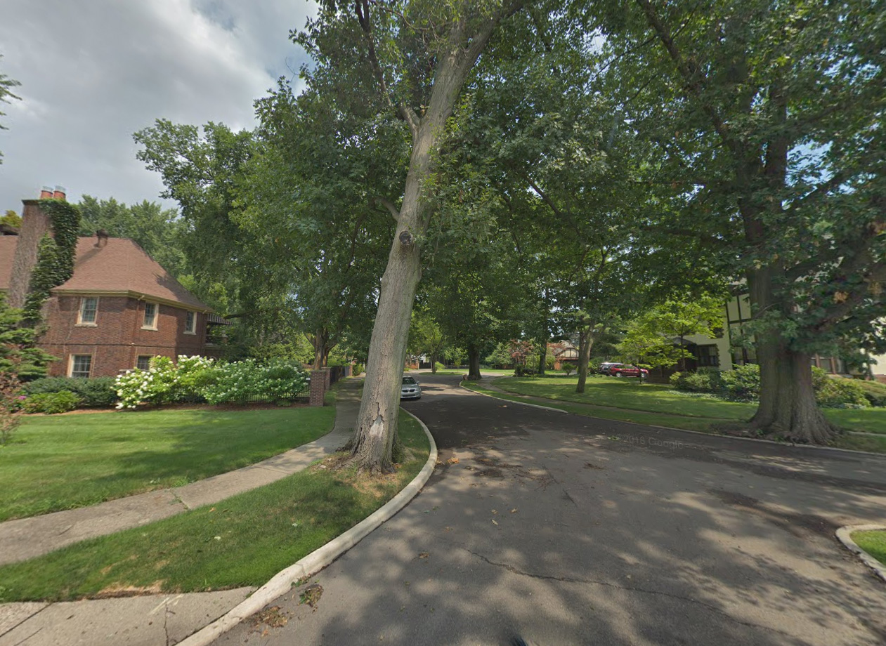 street view of very high opportunity neighborhood in Detroit