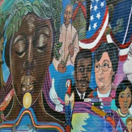 Mural from Denver's Cole neighborhood