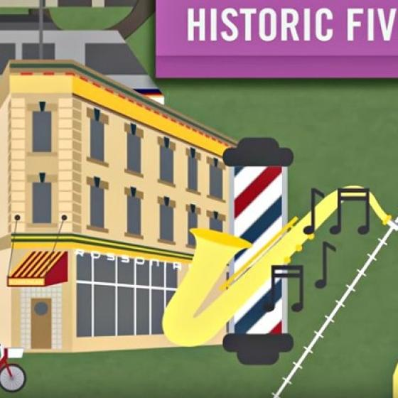 Graphic from YouTube video about the Five Points neighborhood in Denver