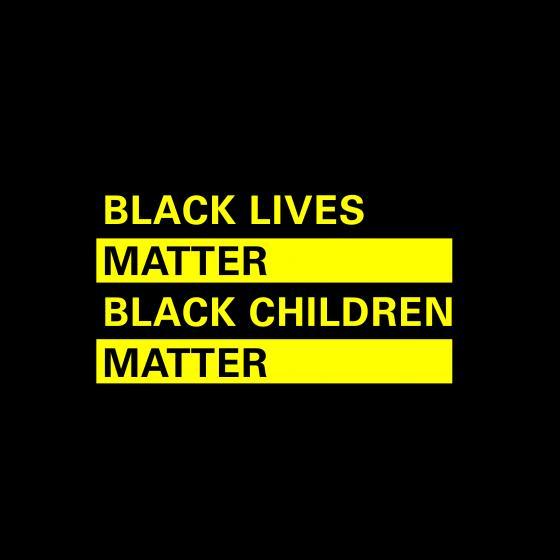 Image states Black Lives Matter. Black Children Matter.